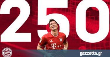 Μπάγερν – Βόλφσμπουργκ: Λεβαντόφσκι, ο τρίτος που φτάνει τα 250 γκολ στην Bundesliga (vid)
